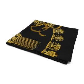 新品未使用展示品 HERMES エルメス カレ90 スカーフ シルク ブラック ゴールド LES CAVALIERS D'OR 黄金の騎士【本物保証】【中古】