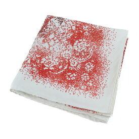 新品未使用展示品 HERMES エルメス カレ90 INDIAN DUST スカーフ シルク アイボリー系 レッド【本物保証】【中古】