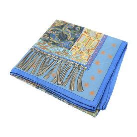 超美品 HERMES エルメス カレ90 SUR UN TAPIS VOLANT 空飛ぶ絨毯に乗って スカーフ シルク ブルー ベージュ マルチカラー アパレル 小物【本物保証】【中古】