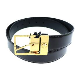 新品未使用展示品 VERSACE ヴェルサーチ ベルト DCU6508 レザー ブラック ゴールド 表記サイズ 90/36【本物保証】【中古】