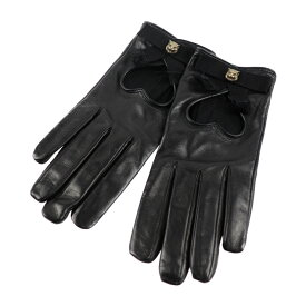 新品未使用展示品 GUCCI グッチ キャット 手袋 477970 ラムスキン ブラック M 表記サイズ 7【本物保証】【中古】