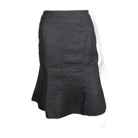 美品 CHANEL シャネル スカート P24994V15448 リネン カシミヤ ブラック 表記サイズ 44【本物保証】【中古】