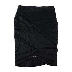 超美品 GUCCI グッチ スカート 147028.ZM008 シルク ナイロン ポリウレタン ブラック ペンシルスカート 表記サイズ 38【本物保証】【中古】