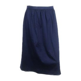 美品 LEONARD レオナール スカート 綿100% ネイビー系 表記サイズ 72【本物保証】【中古】
