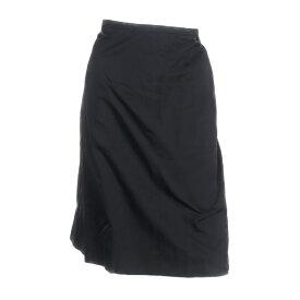 美品 CHANEL シャネル スカート P28864V11354 94305 シルク100% ブラック 表記サイズ 46【本物保証】【中古】