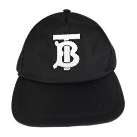 新品未使用展示品 BURBERRY バーバリー TRUCKER CAP キャップ 8019211 ナイロン 黒 表記サイズ M【本物保証】【中古】