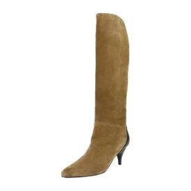 超美品 HERMES エルメス ブーツ スウェード レザー ブラウン ブラック 参考サイズ22.5cm 表記サイズ 35 1/2【本物保証】【中古】