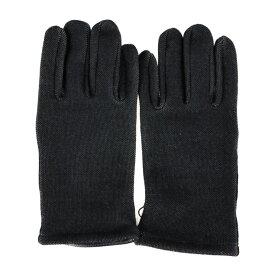 新品未使用展示品 BALENCIAGA バレンシアガ 手袋 キャンバス レザー ブラック グローブ 表記サイズ 9【本物保証】【中古】