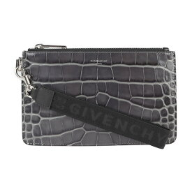 新品未使用展示品 Givenchy ジバンシー 20SSモデル クラッチバッグ BK603 クロコ型押しレザー グレー系 ポーチ【本物保証】【中古】