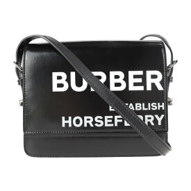 新品未使用展示品 BURBERRY バーバリー ショルダーバッグ 8026096 コットン ポリウレタン レザー ブラック【本物保証】【中古】