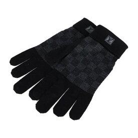 新品未使用展示品 LOUIS VUITTON ルイ ヴィトン ダミエ 手袋 M70006 ウール ブラック グローブ【本物保証】【中古】