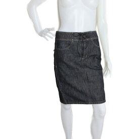 超美品 GUCCI グッチ スカート 091768 コットンデニム ブラック ひざ丈スカート 表記サイズ 40【本物保証】【中古】