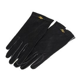 美品 LOEWE ロエベ 手袋 レザー ブラック【本物保証】【中古】