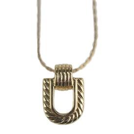 美品 Christian Dior クリスチャンディオール ネックレス メタル ゴールド【本物保証】【中古】