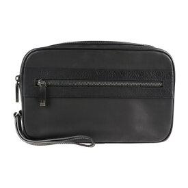 美品 Dunhill ダンヒル WINDSOR クラッチバッグ L3K791A PVC レザー ブラック セカンドバッグ【本物保証】【中古】