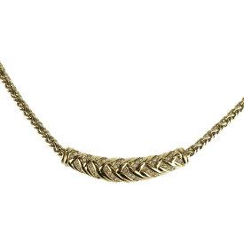 美品 Christian Dior クリスチャンディオール ラインストーン ネックレス メタル ゴールド【本物保証】【中古】