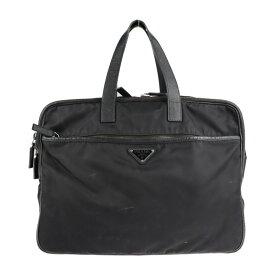 PRADA プラダ ビジネスバッグ 2VE407 ナイロン レザー ブラック ブリーフケース【本物保証】【中古】