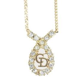 Christian Dior クリスチャンディオール ネックレス メタル ラインストーン ゴールド【本物保証】【中古】