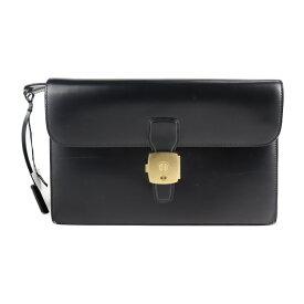 美品 Dunhill ダンヒル セカンドバッグ LW9001A カーフ ブラック クラッチバッグ【本物保証】【中古】