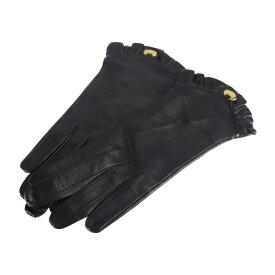 美品 LOEWE ロエベ 手袋 レザー ブラック グローブ【本物保証】【中古】