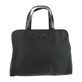 PRADA プラダ ビジネスバッグ ナイロン レザー ブラック ブリーフケース ハンドバッグ【本物保証】【中古】