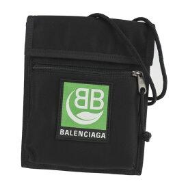 新品未使用展示品 BALENCIAGA バレンシアガ エクスプローラーポーチ ショルダーバッグ 532298 キャンバス ブラック 【本物保証】【中古】