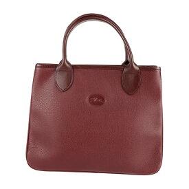 超美品 Longchamp ロンシャン ハンドバッグ レザー ボルドー【本物保証】【中古】