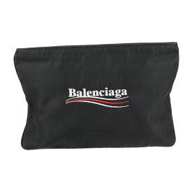 美品 BALENCIAGA バレンシアガ セカンドバッグ ナイロン ナイロンキャンバス ブラック ロゴ刺繍 クラッチバッグ【本物保証】【中古】