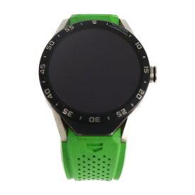 TAG HEUER タグホイヤー 腕時計 SAR8A80 チタン ラバー ブラック×グリーン スマートウォッチ コネクテッドウォッチ【本物保証】【中古】