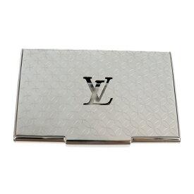 美品 LOUIS VUITTON ルイ ヴィトン ポルトカルト・シャンゼリゼ 名刺入れ M65227 メタル シルバー モノグラム【本物保証】【中古】