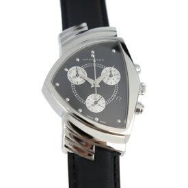 超美品 HAMILTON ハミルトン ベンチュラ クロノグラフ 腕時計 H244121 ステンレススチール レザー ブラック【本物保証】【中古】