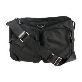 美品 PRADA プラダ ショルダーバッグ BT0500 ナイロン レザー ブラック【本物保証】【中古】