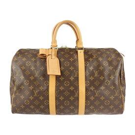 美品 LOUIS VUITTON ルイ ヴィトン キーポル45 モノグラム ボストンバッグ M41428 モノグラムキャンバス ブラウン ハンドバッグ 旅行鞄【本物保証】【中古】