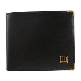 超美品 Dunhill ダンヒル オックスフォード 二つ折り財布 レザー ブラック 札入れ【本物保証】【中古】