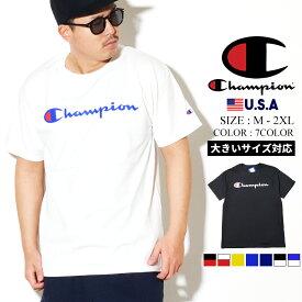 【ネコポス対応】Champion チャンピオン Tシャツ メンズ 半袖 大きいサイズ カットソー スクリプトロゴ USA規格 ストリート ファッション メンズ CLASSIC GRAPHIC TEE GT23H Y06794