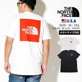 【ネコポス対応】 THE NORTH FACE ザ ノースフェイス Tシャツ メンズ 大きいサイズ ロゴ 半袖 カットソー ボックスロゴ USモデル NF0A4M4R 大きいサイズ 2020春 新作
