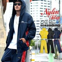 セットアップメンズ大きいサイズジャージ上下春ナイロンメッシュ生地b系ファッション