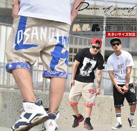 ハーフ ワークパンツ メンズ 大きいサイズ ワークショーツ ハーフパンツ ロールアップ バンダナ B系 ファッション ストリートファッション おうちコーデ