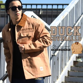 カバーオール メンズ 大きいサイズ 作業着 防寒 ダックジャケット 中綿 B系 ファッション ブルゾン ワーク系