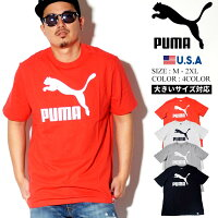 PUMAプーマtシャツメンズ大きいサイズ半袖ロゴtシャツ綿100%コットン100%トップスARCHIVELIFETEEストリートファッションヒップホップスポーツ運動フィットネスジム