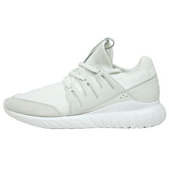 供adidas爱迪达TUBULAR RADIAL PRIME KNIT人运动鞋[ALL WHITE]howaitochuburakajuarushuzu BOOST YEEZY男性使用的鞋S76714