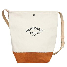 49fb620746c7 HERITAGE LEATHER ヘリテージレザー スエードボトム バケット ショルダーバッグ NATURAL/BROWN MADE IN USA  アメリカ
