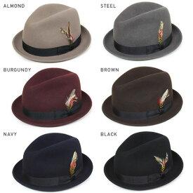NEW YORK HAT ニューヨークハット Lite Felt Stingy ウールフェドラハット 全6色 ブラック ブラウン グレー えんじ ネイビー ベージュ 黒 茶 灰 紺 メンズ レディース 中折れ フェドラ ウールハット 帽子 MADE IN USA #5325 送料無料