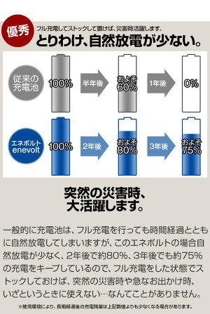 エネボルト充電池単4セット64本ケース付3000mAh単4型単4形互換単4充電電池充電電池充電式電池ラジコン充電式乾電池おすすめ充電地