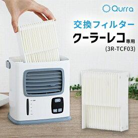 冷風扇 交換 フィルター Qurra クーラーレコ 3R-TCF03 専用 ポータブル 冷風 扇風機 卓上冷風扇 吸水フィルター