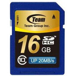 \クーポンで5%引/【送料無料】SDHCカード 16GB class10(クラス10) 10年保証付 メモリーカード SDカード TEAM SDカード最大20MB/秒 [TG016G0SD28K]【チーム】