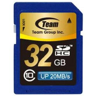 SD 卡 32 GB 級 10 記憶體與 SD 卡 SDHC 卡 10 年保修卡 32 GB 團隊 SD 卡最大 20 MB/秒 SDHC TG032G0SD28K