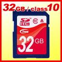 \クーポンで300円引/【送料無料】TEAM チーム SDカード 32GB class10 メモリーカード SDHCカード 【10年保証付】 TG032G0SD...