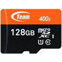 送料無料 TEAM チーム microSDカード 128GB Xtreem SDXC UHS-1対応 SDアダプタ付き TUSDX128GUHS03 マイクロS...