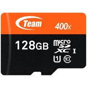 TEAMmicroSDカード128GBXtreemSDXCUHS-1対応SDアダプタ付きTUSDX128GUHS03